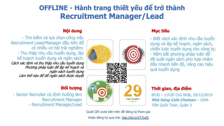 [HCM] Workshop 04: Hành trang thiết yếu để trở thành Recruitment Lead/Manager (29/12/2019)