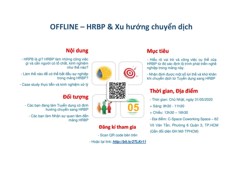 [HCM] Workshop 01: HRBP & Xu hướng chuyển dịch (31/05/2020)