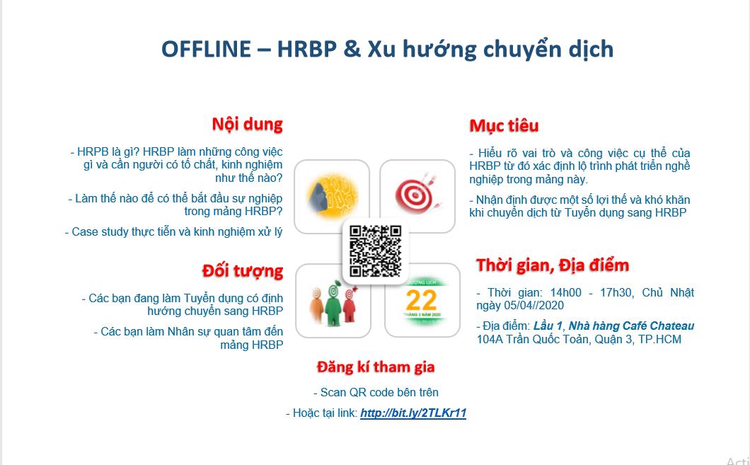 [HCM] Workshop 01: HRBP & Xu hướng chuyển dịch (CHIỀU 05/04/2020)
