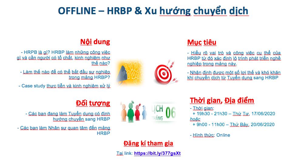 [Online] Workshop 01: HRBP & Xu hướng chuyển dịch (Tối 17/6/2020/ Sáng 20/06/2020)